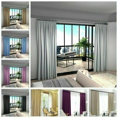 Quality Thermal Blackout Curtains Ring Top /Pencil Eyelet Pleat Free Tie back