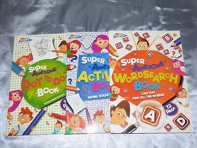 Kids Childrens Puzzle Books A4 Activity Wordsearch Dot To Dot Holidays Learning