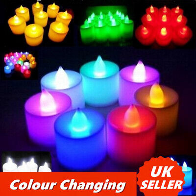 30x LED Tea Lights Candles Smart Light Flameless Battery Operated Wedding XMAS