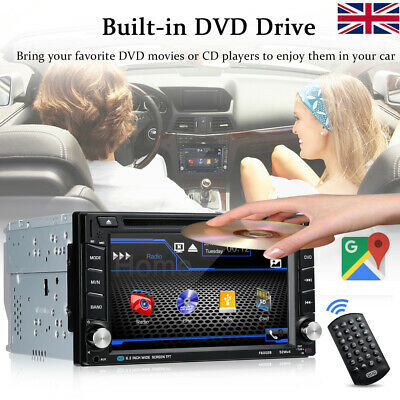 """6.2""""Double 2 Din In Dash Car CD DVD Player Radio Stereo GPS SAT NAV Bluetooth A"""