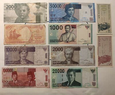 Indonesia Banknotes Mixed Lot (Japanese Invasion WW2) & Recent Lot 027