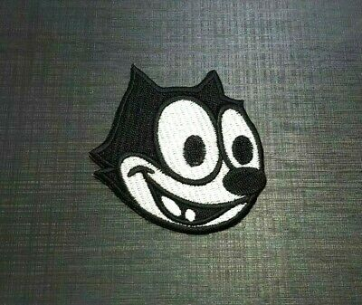 FELIX THE CAT Embroidered Sew Iron Patch LOGO HARDCORE EMBLEM cartoon PETS FUNNY