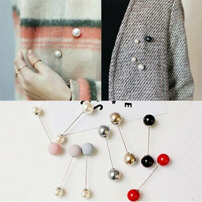 Fashion 1Pc Women Girl Brooch Pin Classic Charm Accessories Simple Double Pearls