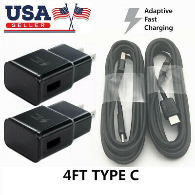 Fast Wall Charger Plug USB C CableFor Samsung Galaxy Note 9 S8 S9 Plus LOT New