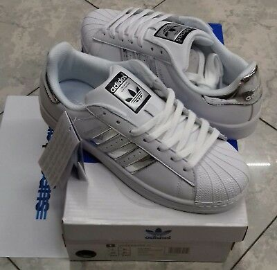 Adidas Superstar Donna White Silver AQ3091