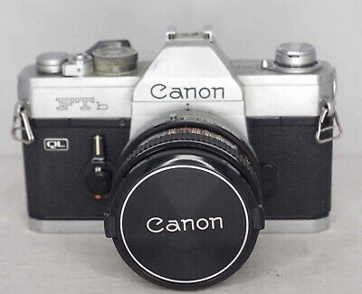 Canon FTb QL 35mm SLR camera with 50mm f.1.8 lens - boxed