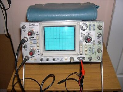 Tektronix 465 Oscilloscope working on both channels but not fully tested.