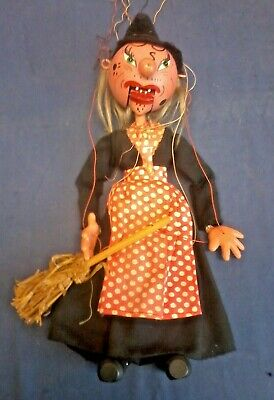 Vintage Pelham Puppet of a witch -E3