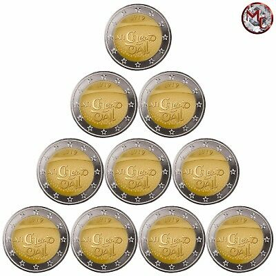 "Ireland 2 Euro 2019 "" 100th - first assembly in Dáil Éireann"" Set 10 PCS - UNC"