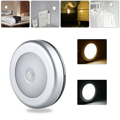 6LED PIR Motion Sensor Night Light Infrared Wireless Wall Lamp Battery Powered