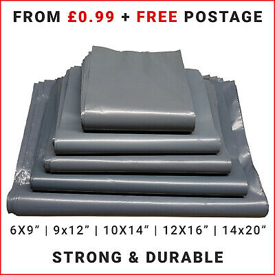Strong Grey Packaging Poly Bags Self Seal Parcel Packing Mailing Postage Bag