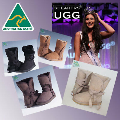 Genuine HAND-MADE Australia SHEARERS UGG Sheepskin Short Boots - Wick Wrap