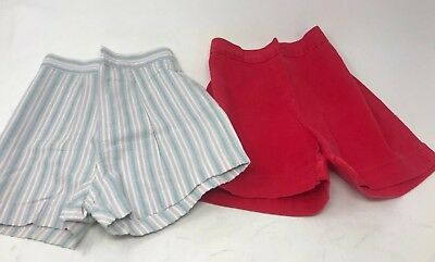 VTG Kids Shorts Lot of 2 Red and Pinstripe Seersucker Millbrook 1940s 1950s