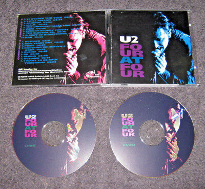 U2 Four At Four - Very Rare 2Cd Live Chicago 1985 / Glasgow 1983 - Exc