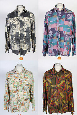 JOB LOT VINTAGE 90s CRAZY PRINT LONG SLEEVES SHIRTS WHOLESALE X10