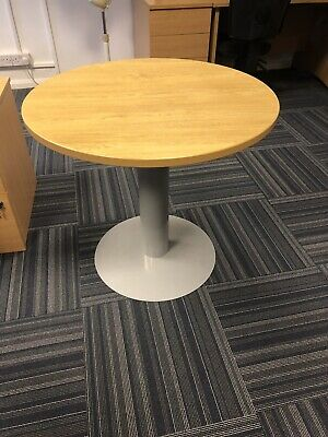 Round Office Meeting Table Oak Effect