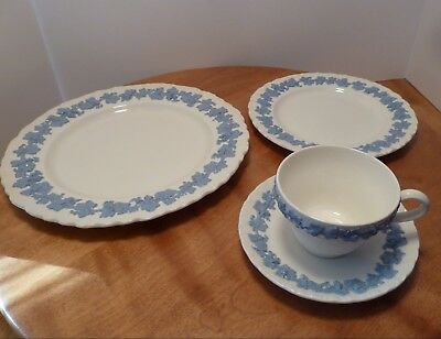 Wedgewood Queen's Ware White & Blue - 4 Piece Place Setting