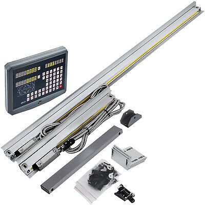 """10"""" 40"""" TTL Linear Scale 2Axis Digital Readout DRO Display Kit Milling Lathe US"""