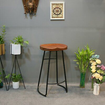 Industrial Stool Bar Breakfast Bar Kitchen Dining Vintage Backless Counter Chair
