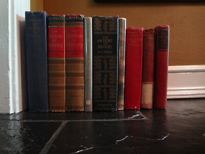 9 LOT ANTIQUE LATE 1800's 1900's + FIRST EDITION WRITER H.G. WELLS NOVELS BOOKS