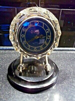 A Vega Ussr 7 Day Mantel Clock Well Made With Platform Escapement Glass Surround