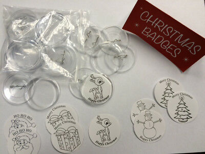 Make Your Own Christmas Badges x 3 Pack of 10