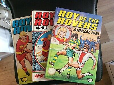 Roy Of The Rovers Annuals x 3
