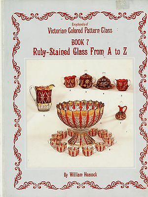 Antique Ruby-Stained Pattern Glass Identification - Makers Dates.../ Scarce Book