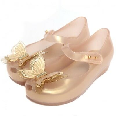 cbed159d94ae6b Mini Melissa Ultragirl Fly butterfly toddler girl mary jane flats color gold
