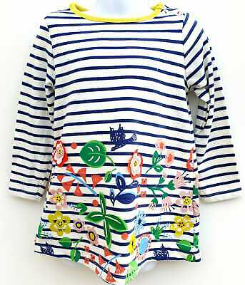 Ex Boden Girls Tunic Dress Applique Ex Mini Boden Age 2 -10 Years RRP £26