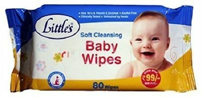 New Little's Soft Cleansing Baby Wipes (80 Wipes) - free Shipping