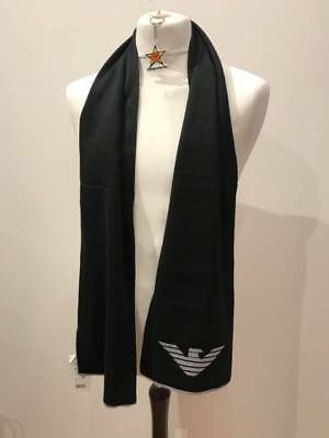 Brand new  Armani wool scarf in black/grey  Junior label but suitable for adult