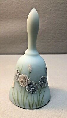 Vintage Fenton Blue bell Hand Painted Signed