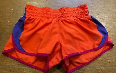 9afa1a99a5c Nike Womens Dri Fit Tempo Track Athletic Gym Shorts Size XS Extra Small  Orange