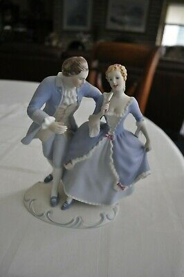 Czech Royal Dux Porcelain - Hand Painted Dancing Figures 3802