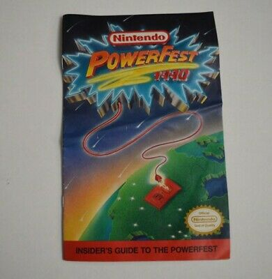 Vintage Nintendo Powerfest 1990 Insider's Guide to the Powerfest