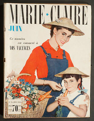 'marie-Claire' French Vintage Magazine Holiday Issue June 1955
