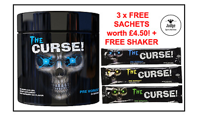 Cobra Labs The Curse Pre Workout 250g 50 Serving Energy Drink + 3 x Free Sachets