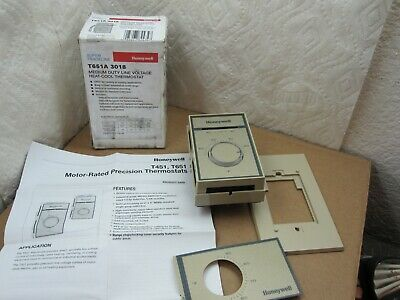 Honeywell T651A3018 Medium Duty Line Voltage Heat-Cool Thermostat Fast Shipping!
