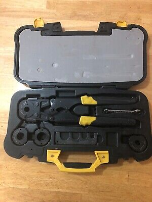 "Apollo Pex Crimp Tool Kit Set Plumbing Tool Used For One Job 1"" 3/4"" 1/2"" 3/8"""