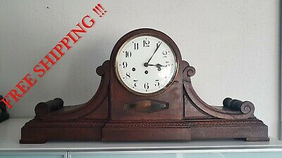 0163 - Very BIG Antique German Junghans Westminster chime mantel clock