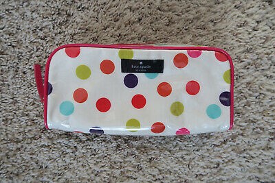 Kate Spade New York Polka Dot Pink Cosmetic Case Pouch