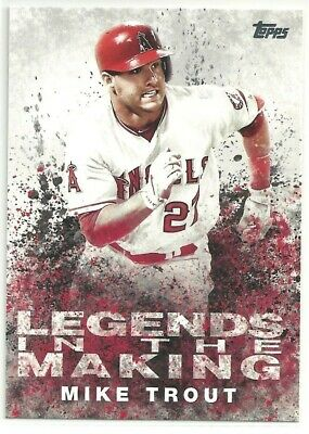 2018 Topps Legends in the Making #LTMMT - MIKE TROUT