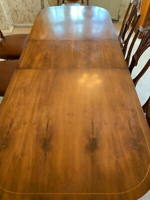 Large Antique Style Mahogany Extending Dining Table And 8 Chairs. Stunning