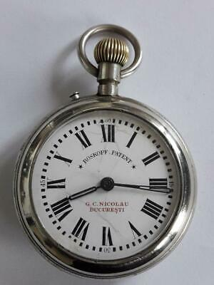 """ Roskopf Patent "" Pocket Watch Swiss made - for Romania market  57mm"