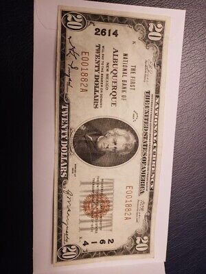 The First national Bank Of Albuquerque 20 Dollar Bill