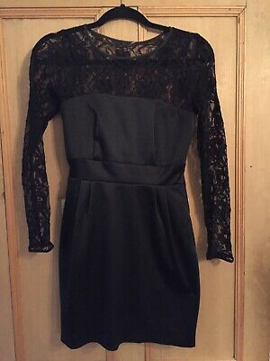 776a009d98 ASOS BLACK LACE And Satin Like Dress Size 8 - EUR 2