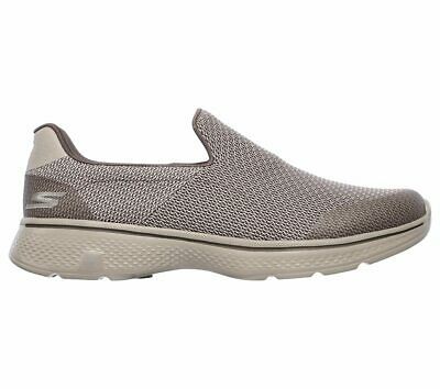 f603f35afc2 Skechers GO WALK 4 EXPERT Mens Khaki 54155 Mesh Slip On Loafer Comfort Shoes