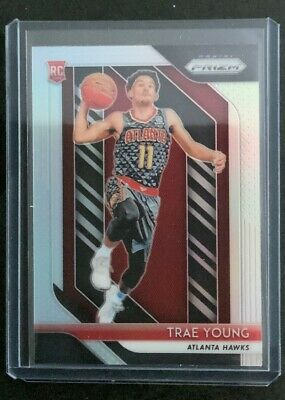TRAE YOUNG 2018-19 Panini Prizm Basketball Silver Prizm Rookie Card #78 RC Hawks