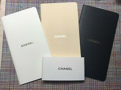 CHANEL VIP GIFT notebook set 3x white beige black very rare